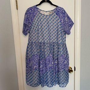 Blue Patterned ASOS Dress